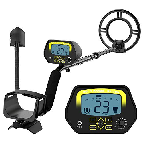 SAKOBS Metal Detector for Adults - High Accuracy Metal Detector with Discrimination Mode & Distinctive Audio Prompt and LCD Display Waterproof Search Coil for Treasure Hunting Beginners Professionals