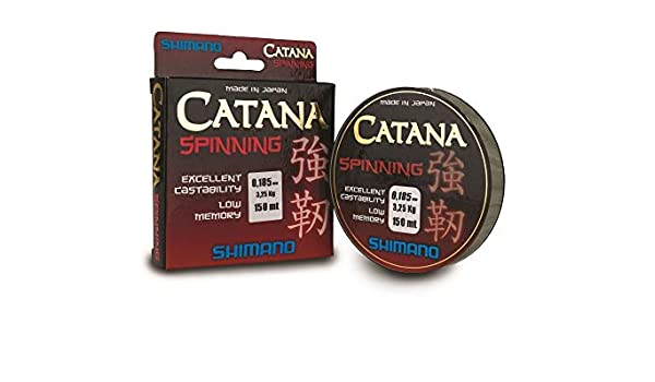 Shimano Catana Spinning - Caña de pescar (150 m, 0,35 mm): Amazon ...