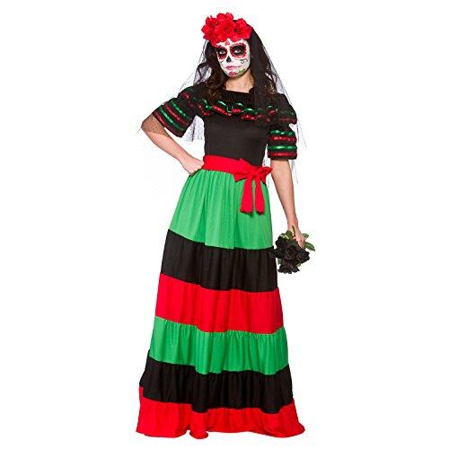 Day of The Dead Senorita Womens Halloween Fancy Dress -