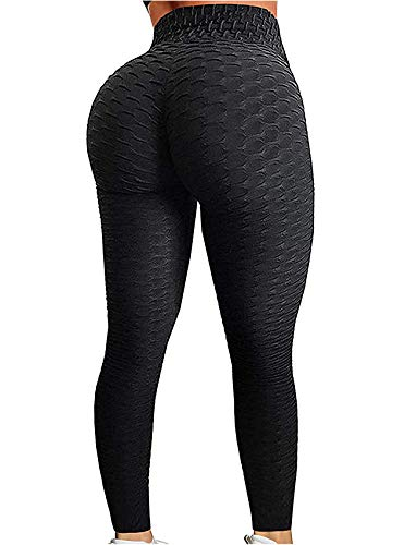 SEASUM Women's High Waist Yoga Pants Tummy Control Slimming Booty Leggings Workout Running Butt Lift Tights M (Best Squats For Your Bum)