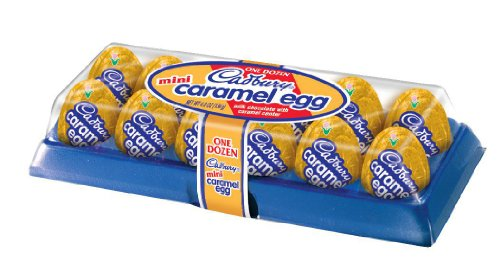 Cadbury Easter Caramel Mini Eggs, 12-Count 3.8 oz Containers