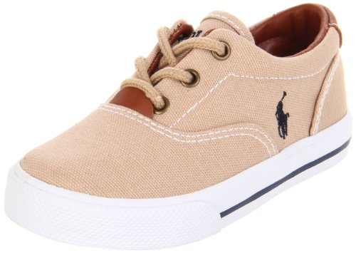 Polo Ralph Lauren Kids Vaughn Lace-Up Sneaker ,Khaki,12.5 M