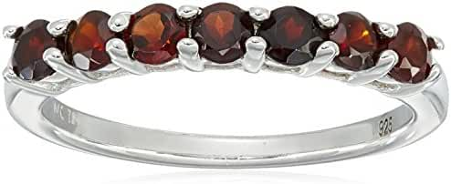 Gemstone Seven Stone Ring in Sterling Silver (3mm)