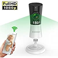 Antaivision 1080P WiFi Wireless Home Camera with Bracket,Full View Fisheye Panoramic IP Cam For Remote Home Surveillance With NightVision, Motion Detection 2-Way talking for Iphone,Android and iOS