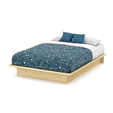 South Shore Furniture Basic Collection Full Platform Bed, Natural Maple - Frame One Light