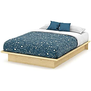 Amazoncom Basic Collection Platform Bed with Moulding Queen