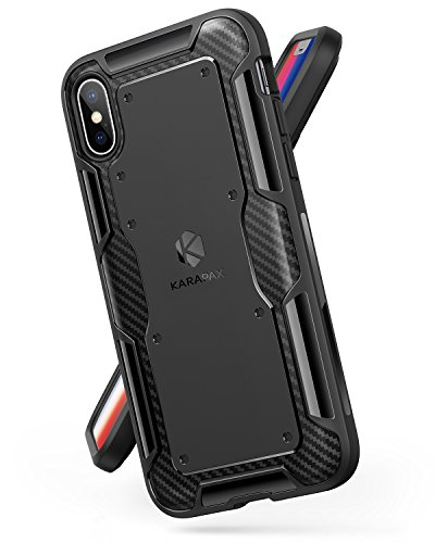 Anker iPhone X Case, iPhone 10 Case, KARAPAX Shield Case Soft TPU Cover [Support Wireless Charging] [Thin Slim Fit] [Anti Scratch] with Carbon Texture and Good Grip for Apple 5.8 in iPhone X ()