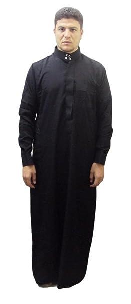 Men Saudi Style Thobe Thoub Abaya Robe Daffah Dishdasha Islamic Arabian  Kaftan 123