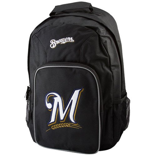 (MLB Milwaukee Brewers Southpaw Backpack, Navy)