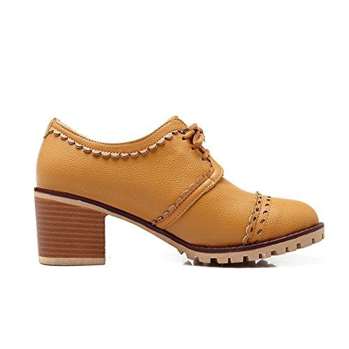 2492fdf0671a Susanny Classic Retro Pu Oxfords Brogue Shoes Women's Mid-Heel ...