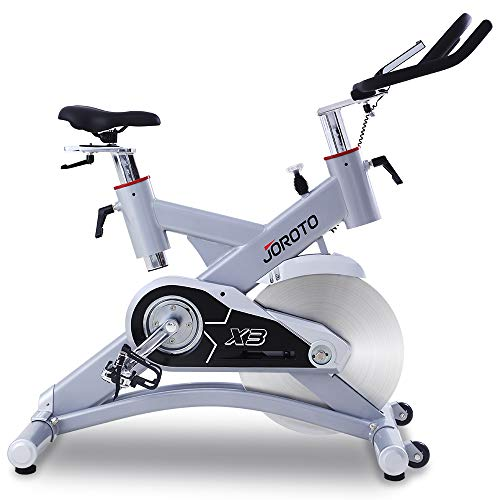 JOROTO Exercise Bike Indoor Trainer - X3 Workout Cycling Bicycle Exercise Stationary Bike Machine for Home Cycle (Color: Red)