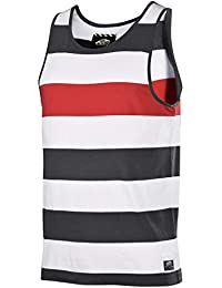 Vans Men's Striped Miscellany Tank Top-White/Gray/Red