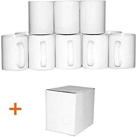 720 blanco ORCA revestimiento doble 11 Oz pequeña asa tazas + cajas de regalo para prensa térmica para sublimación taza: Amazon.es: Bricolaje y herramientas