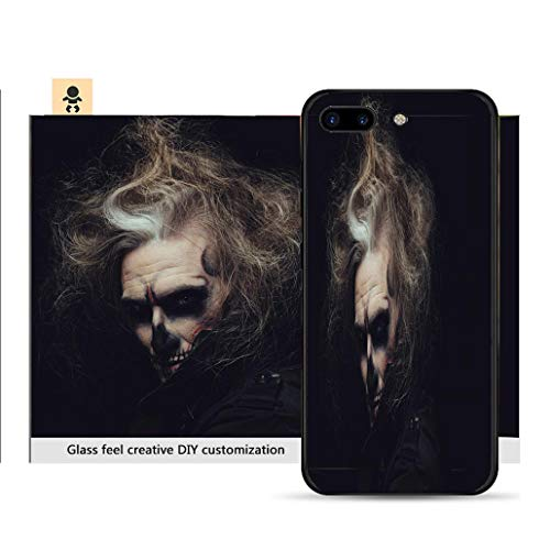 iPhone 7p / 8p Ultra-Thin Phone case Portrait of Man with Halloween Skull Makeup Resistance to Falling, Non-Slip, Soft, Convenient Protective case