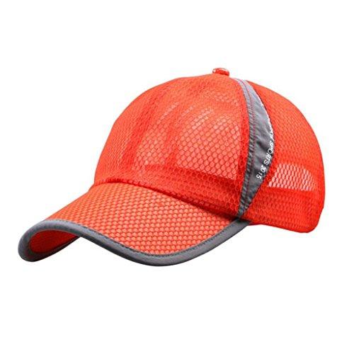 Baseball Cap Punk Style Rivet Hat Silver Spikes Studs Snapback Caps Hip Hop Hat (Orange) ()