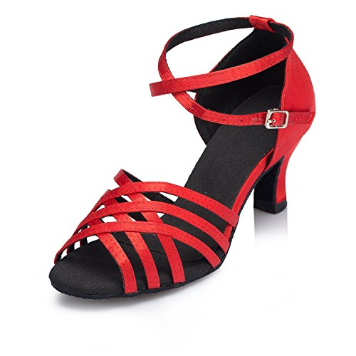 Tanzschuhe Miyoopark heel 6cm Red Damen 0xqHxwaO