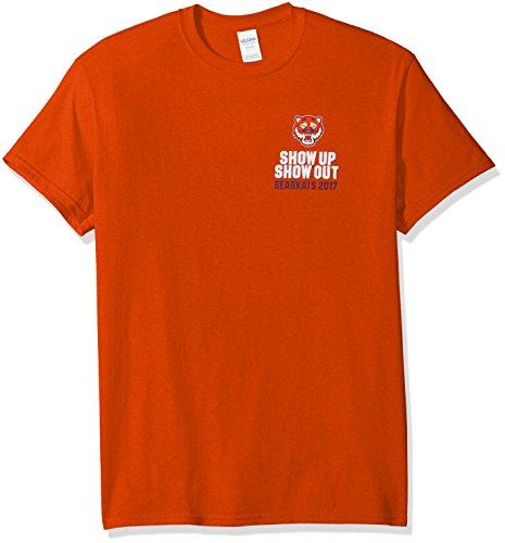 New World Graphics NCAA Sam Houston State Bearkats Football Schedule 2017 Short Sleeve Shirt, XX-Large, Orange ()