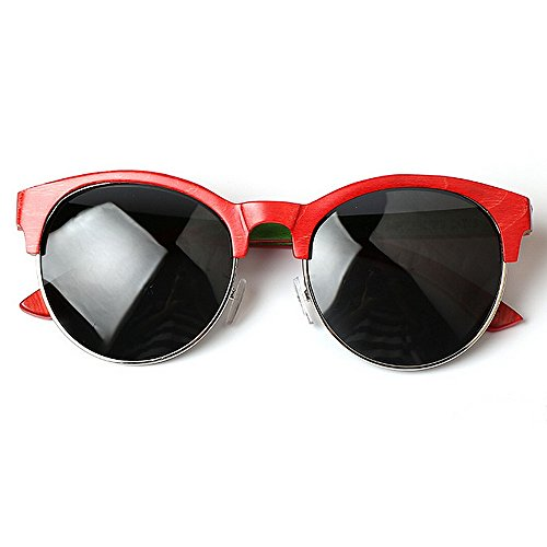 Yxsd Red bloquant Blue Soleil Verres pour en et Les Les Hommes Couleur Bois Lunettes de UV Les Femmes 1wT1qr