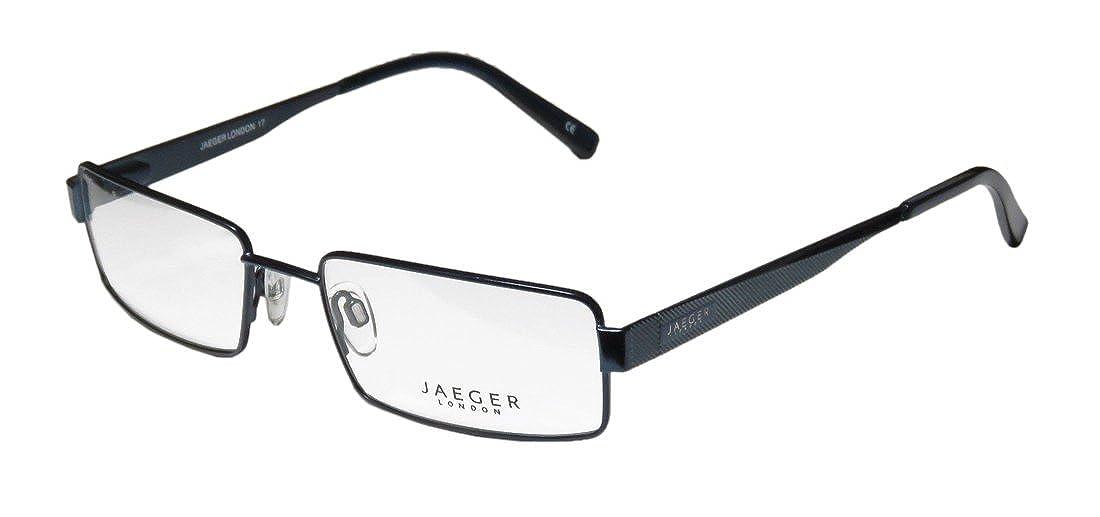 aee8df71ec Amazon.com  Continental Masculine Design Eyewear Jaeger London 17 For Men  Rectangular Full-Rim Shape Spring Hinges Eyeglasses Eyewear (55-19-145