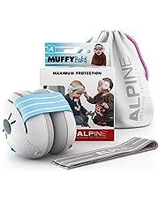 Alpine Baby Muffy Bouchon d'oreille pour enfant – pour enafant et tout-petits jusqu'à 36 mois - Protection auditive enfant- Améliore le sommeil pendant les déplacements – Confortable – Blue
