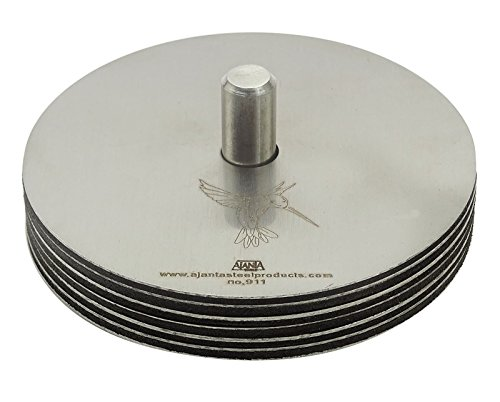 Ajanta-Matt-Finish-Stainless-Steel-Coasters-With-Holder-Drink-Pad-Set-Of-6