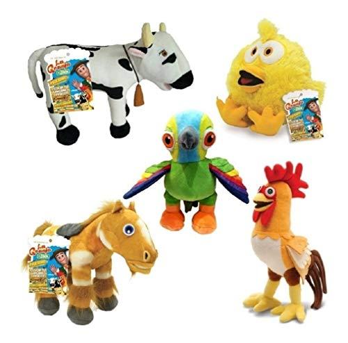 (La Granja de Zenon Set de 5 Peluches Musicales Farm Toys)