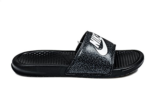 Nike Benassi Jdi Print, Zapatillas de Baloncesto para Hombre Negro (Black / White-Anthracite)