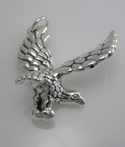 [INFINITY 925 STERLING SILVER EAGLE Bird Unique Hip Hop PENDANT For Necklace P175] (Punk Rocker Girl Costume Ideas)