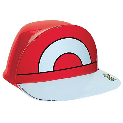 Electrifyingly Cute Pikachu & Friends Birthday Party Ash's Vac Form Hat Accessory, Red , 4