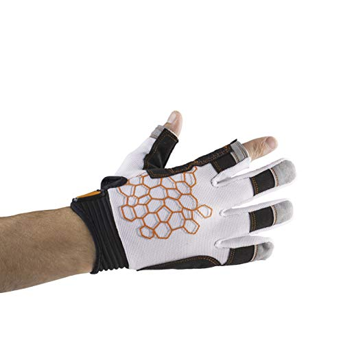 MRX BOXING & FITNESS Sailing Gloves Sticky Palm Gripy Glove Yachting Kayak Dinghy Fishing 2 Cut Finger (White 2-XL) by MRX BOXING & FITNESS (Image #8)