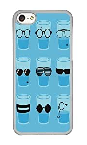 Apple Iphone 5C Case,WENJORS Awesome Glasses Hard Case Protective Shell Cell Phone Cover For Apple Iphone 5C - PC Transparent