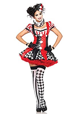 Leg Avenue Women's 3 Piece Harlequin Clown Costume
