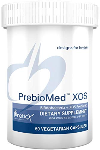 Designs for Health PrebioMed XOS - Prebiotic + 10 Billion CFU Bifidobacteria Probiotic Blend (60 Capsules)