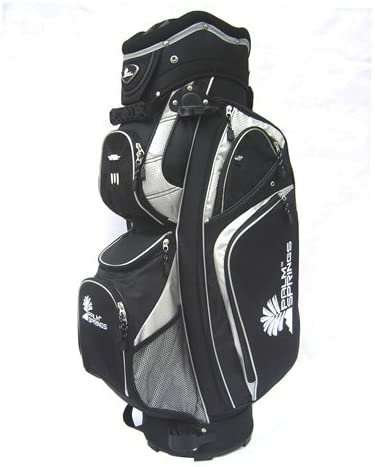 Palm Springs Golf Black Silver 14 Way Divider Cart Bag Misc.