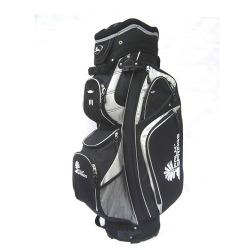 Palm Golf Bag Springs - Palm Springs GOLF Black/Silver 14 Way Full Length Divider Cart Bag