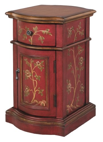 Stein World 58527 One Side chair Cabinet with a Red Finish, 14.25 by 18 by 25-Inch by Stein World