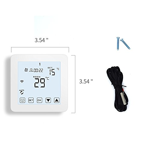 WiFi Thermostat, Programmable Touchscreen Smart Thermostat, Compatible with Alexa by CoolPai (Image #6)