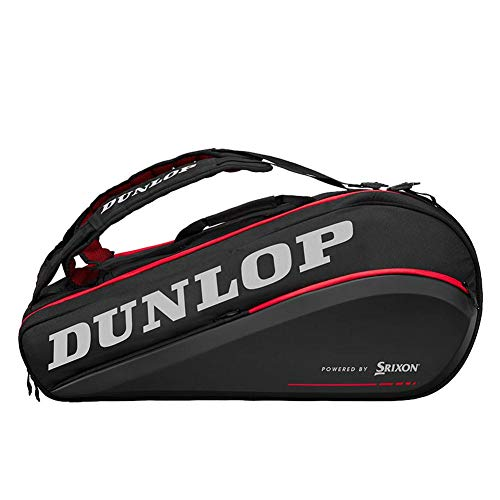 DUNLOP-CX Performance 9 Pack Tennis Bag Black and Red-(045566908483)