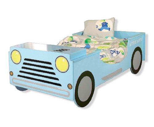 Kinderbett auto blau  Autobett NAVY KINDERBETT BETT Jeep NEU Auto hellblau: Amazon.de ...