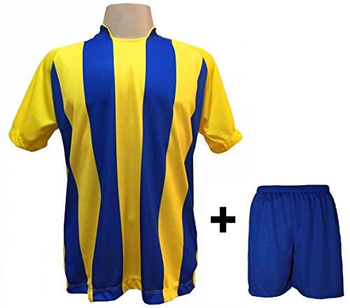 Uniforme Esportivo com 12 camisas modelo Milan Amarelo Royal + 12 calções  modelo Madrid Royal 18f5c95bf0f2f