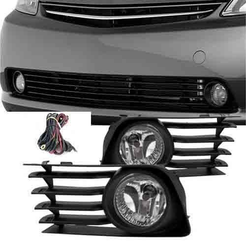 Remarkable Power FL7018 2004-09 Toyota Prius Fog Lights Clear Lens Front Bumper Lamps Kit