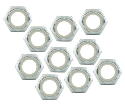 Allstar ALL16022-10 Thin Thread Hex Nut with Nylon Insert - 10 Piece