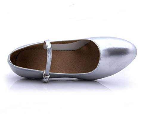 Silver del Base Medio Ruanlei shoes Plaza de Blanda Talón qXtXTZ8wx