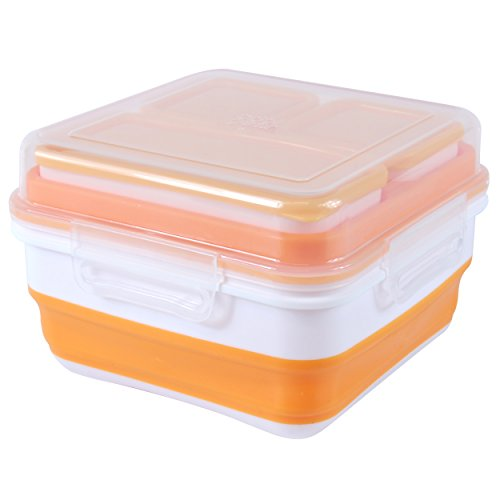 Cool Gear EZ-Freeze Expandable Bento Box, Orange - Cool Containers