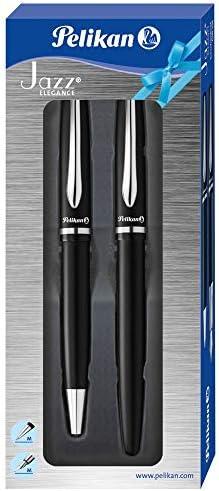 Pelikan 811095 Schreibgeräte-Set Jazz Elegance, 1 Kugelschreiber und 1 Füllhalter, schwarz