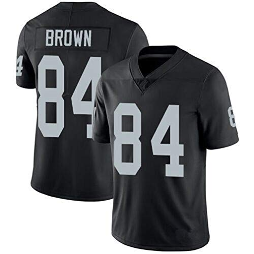 Mens Embroidered #84_Oakland_Raiders_Antonio_Brown Jersey Black (XL)
