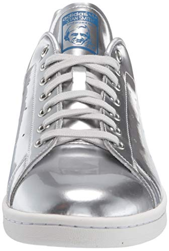adidas Originals mens Stan Smith Sneaker, Silver Metallic/Silver Metallic/Crystal White, 8 US