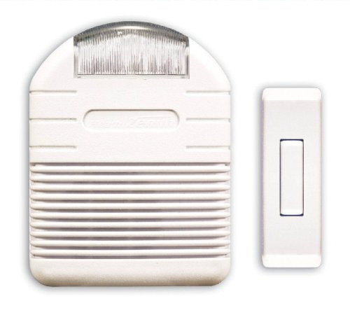 Heath Zenith SL-7744-02 Wireless Plug-In Door Chime Kit Flashing Light Perfect For Hearing Impaired