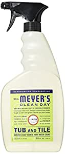 Mrs. Meyer's Tub and Tile Cleaner, Lemon Verbena, 33 Fluid Ounce (Pack of 3)