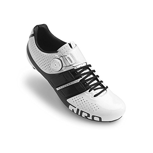 Giro Factor Techlace Road Cycling Shoes White/Black 46.5